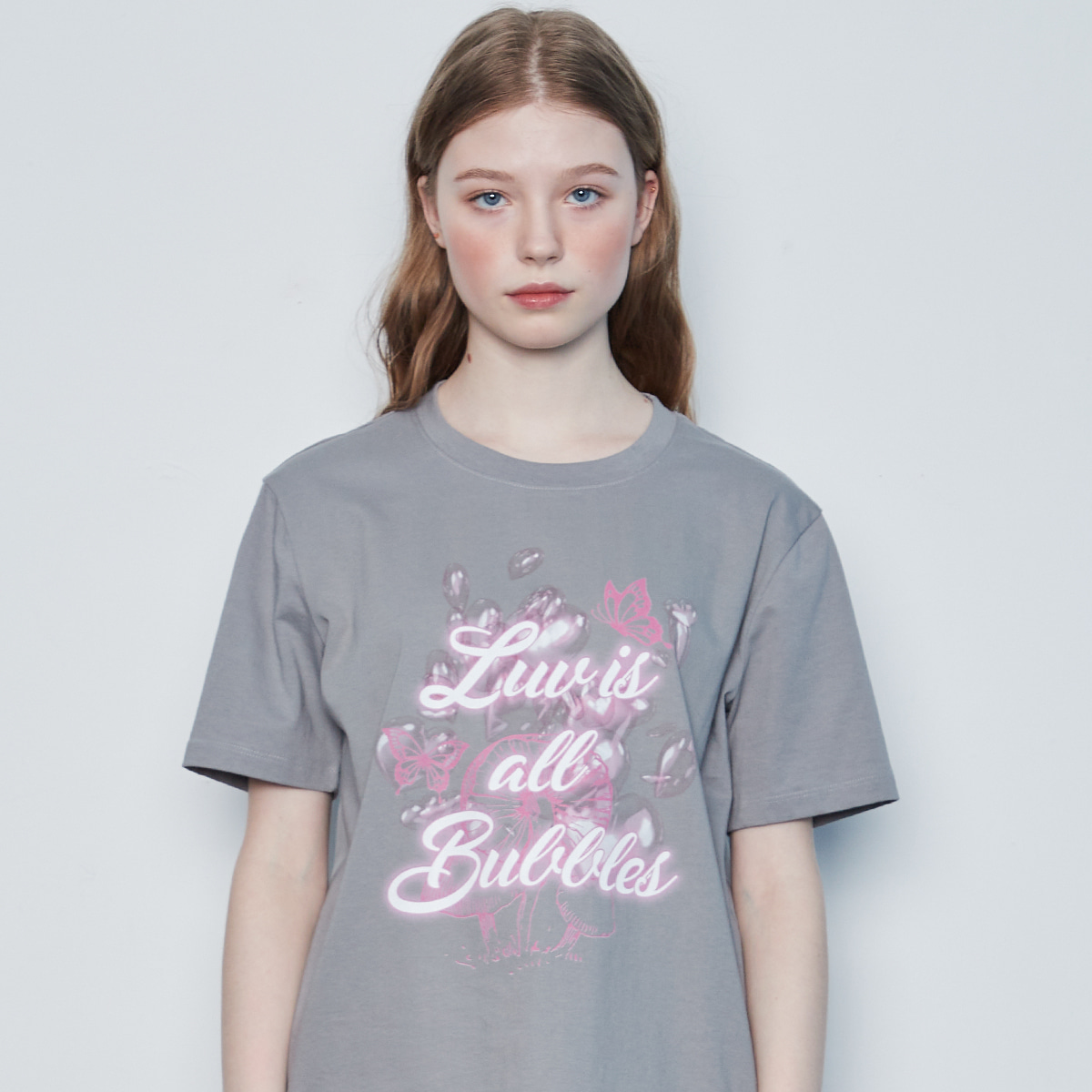 IN BUBBLE TEE(GRAY)