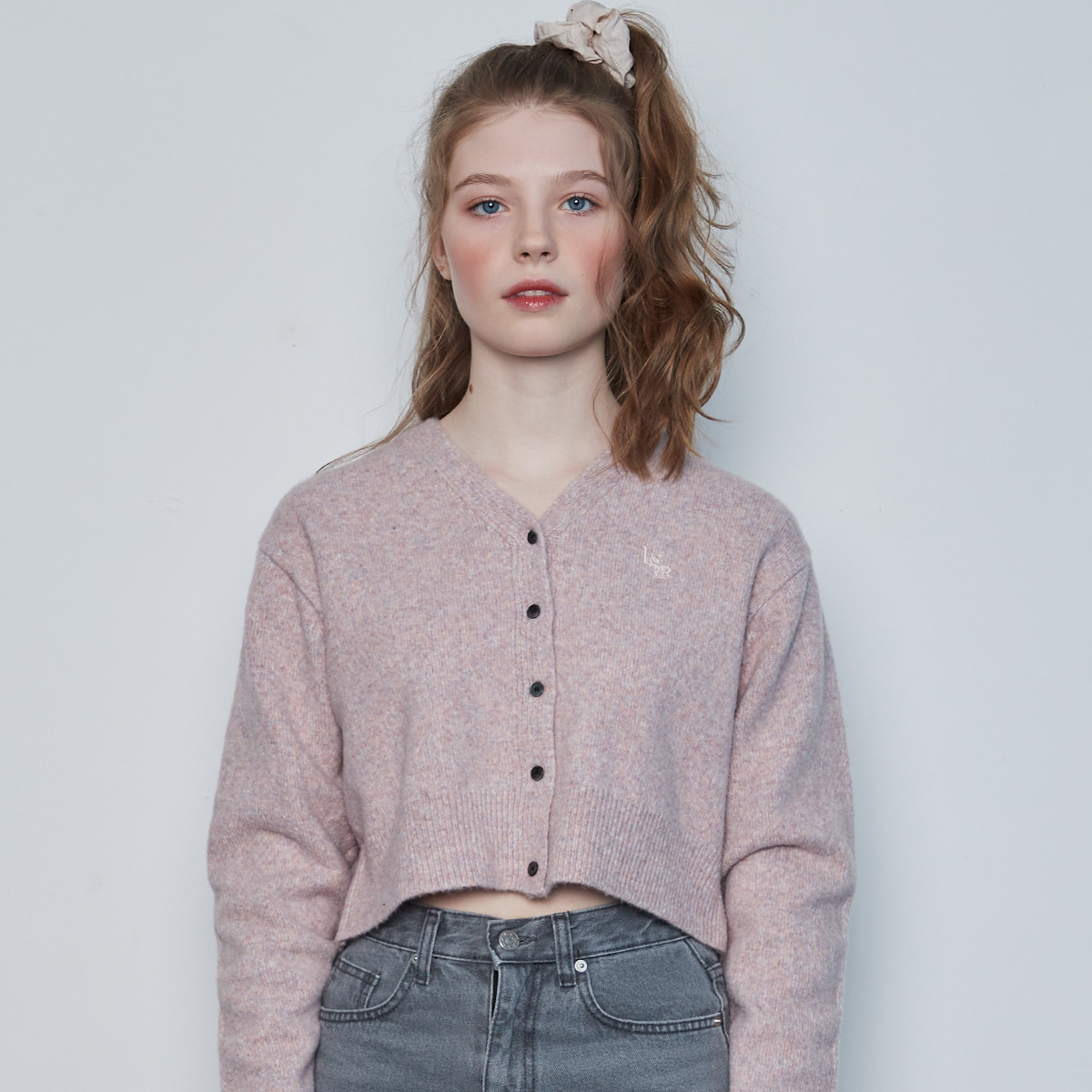 IN CROP KNIT CARDIGAN(PINK)