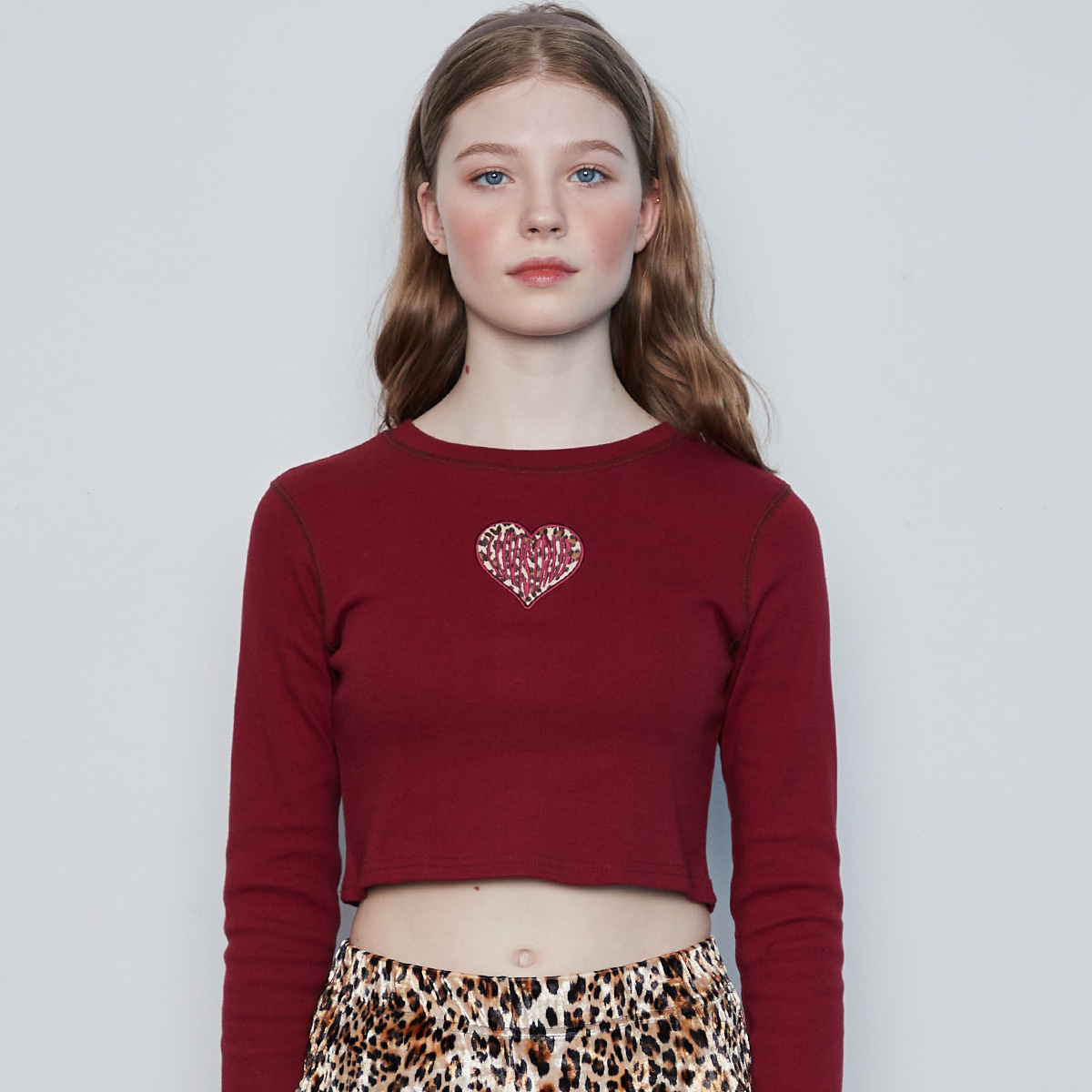 IN HEART CROP TEE(RED)